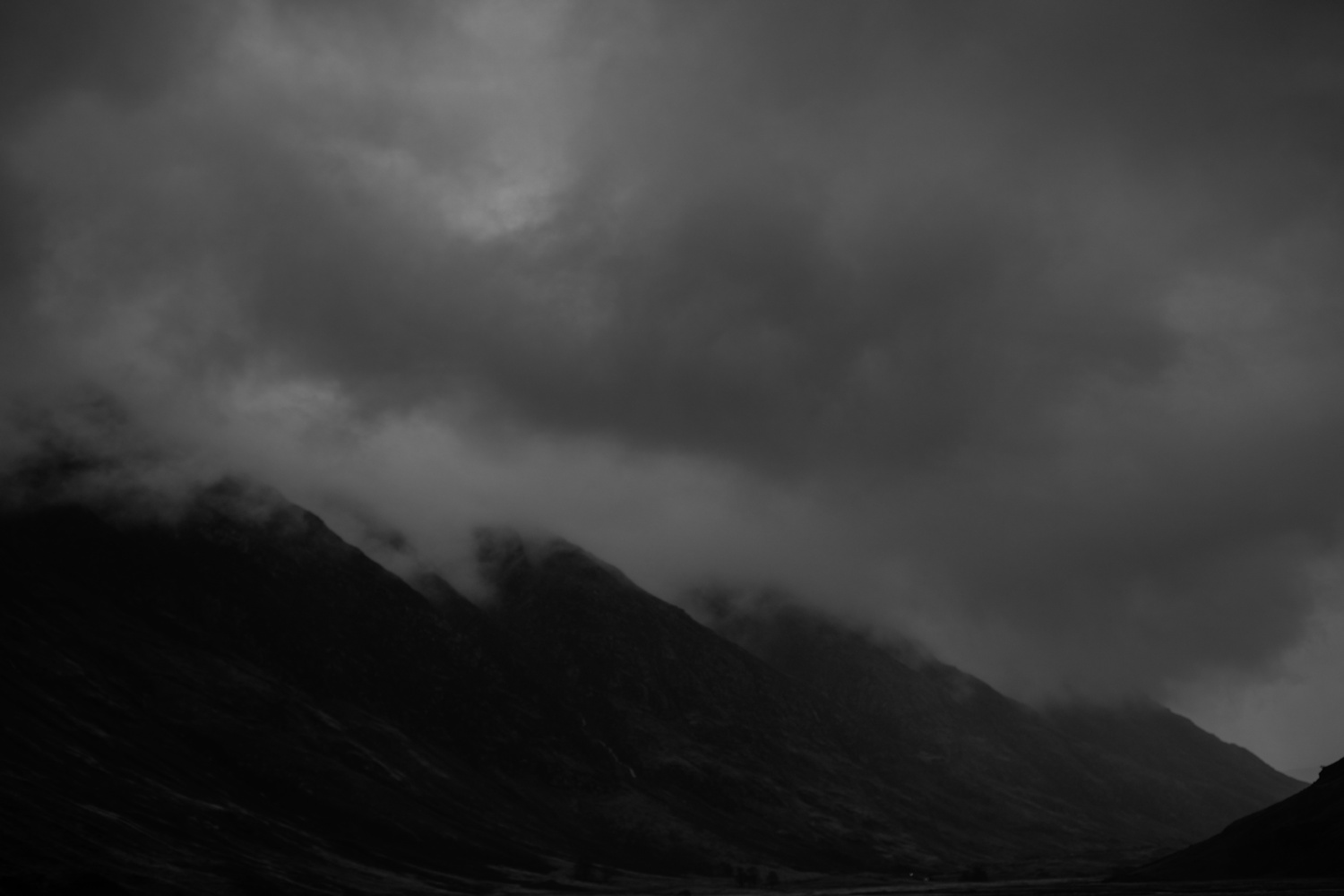 glancoe mountains and clouds