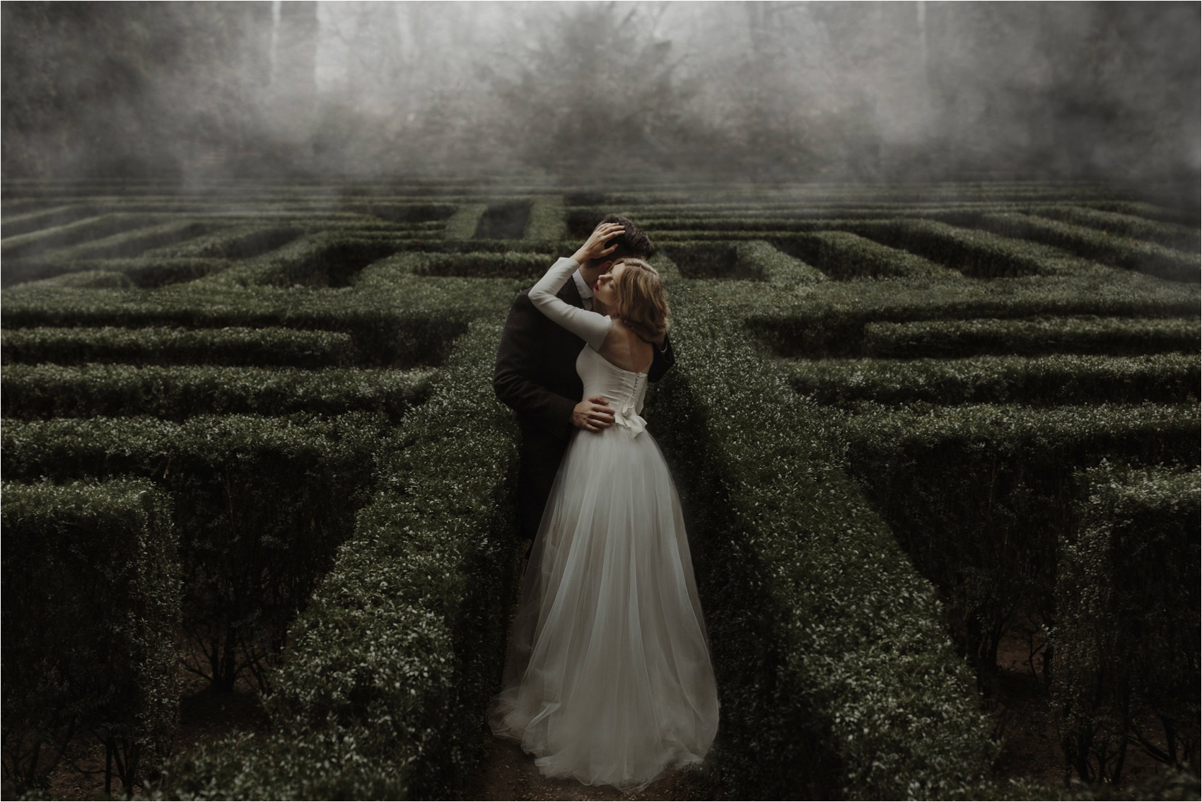 couple in labyrinth