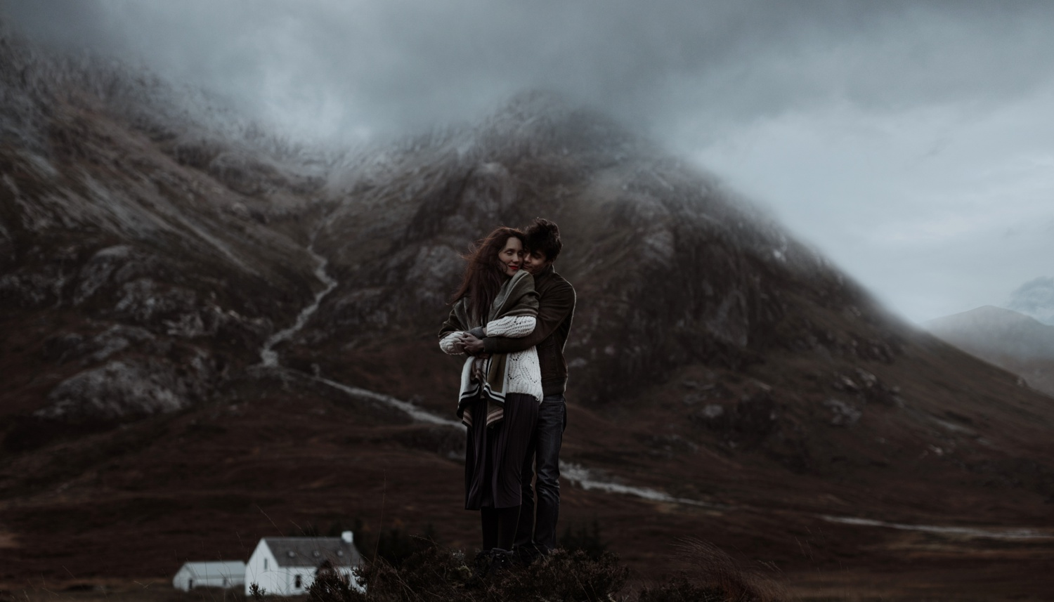 engagement in glencoe mountains
